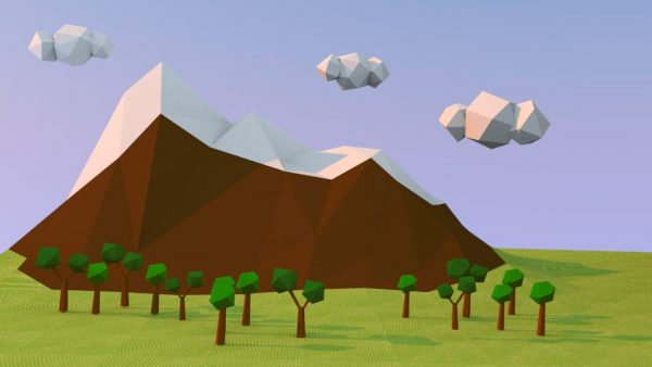 Low Poly test, 2015